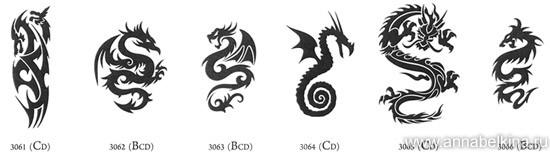 Fashionbank тату дракона — хит 2012 года